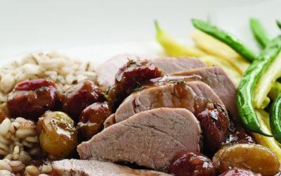 Holiday Menu 2016 – Pork Tenderloin with Roasted Grape Sauce