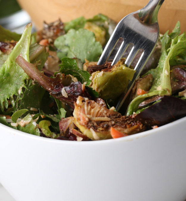 Brussels Sprouts Salad in a Jar