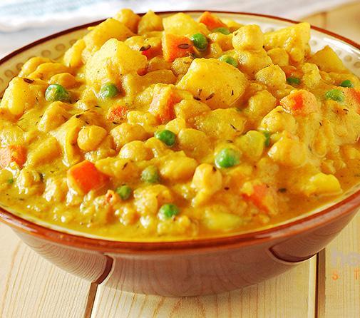 Spicy Golden Yukon Potato Curry