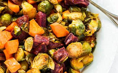 Roasted Vegetables with Balsamic Vinegar and Italian Seasoning